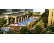建筑游泳池景观PSD素材