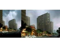 公路环境建筑景观PSD素材