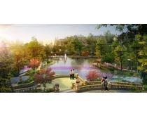 公园环境景观图PSD素材