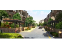 环境小区建筑道路景观PSD素材