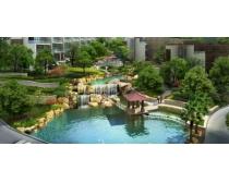 建筑水池环境景观设计PSD素材