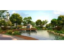 园林河流景观设计PSD素材