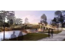 建筑小桥景观环境PSD素材