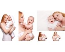 抱小孩的女人高清图片素材