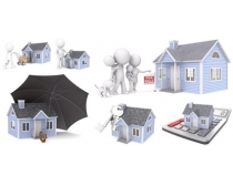 3D房屋模型图片素材