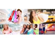购物美女高清图片素材