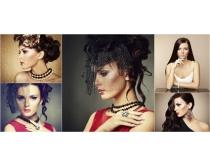 新娘发型盘发设计图片素材