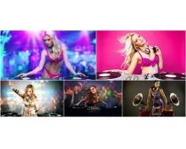 DJ美女高清图片素材