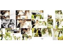婚纱外景拍摄样册模板PSD素材