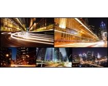 公路建筑夜景攝影高清圖片
