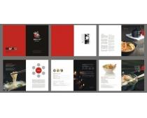 時尚食品畫冊設計矢量素材