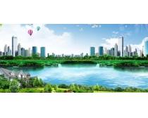 自然生态风景城市PSD素材