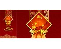 恭贺新禧中国风展板广告矢量素材