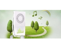 MP3數碼科技綠化PSD素材