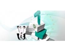 团队合作的职业人物PSD素材