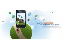 手机创意科技背景PSD素材