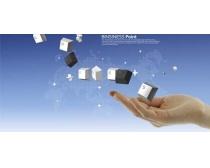 数码科技商务封面设计PSD素材