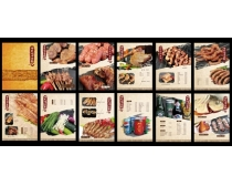 炭烤羊腿菜单设计PSD素材