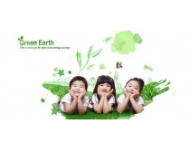 可爱的小朋友环保插画PSD素材