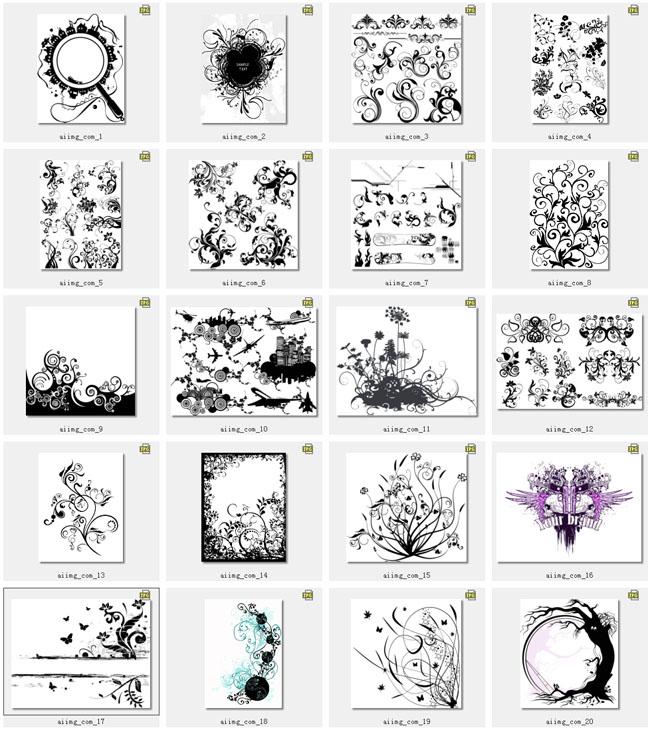 简约欧式花纹矢量素材 中国古典花边设计矢量素材 传统相框花边设计