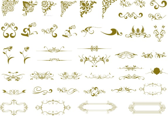 西方古典精品花纹矢量素材 - 爱图网设计图片素材下载