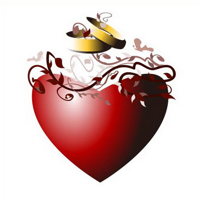 立体心形矢量素材 带光泽的心型图标矢量素材  关键字: 心型素材心型