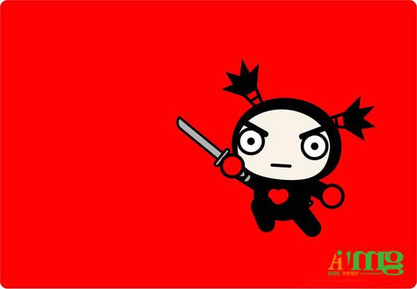中国娃娃卡通素材pucca可爱