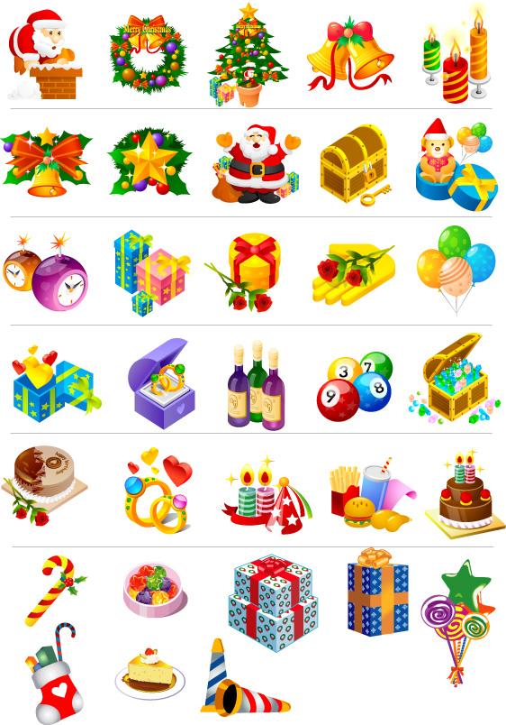 Ŝ�诞节图标矢量素材集 Lj�图网设计图片素材下载