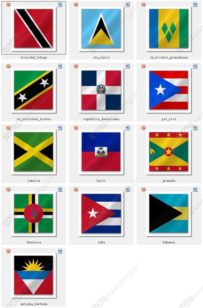 亚洲国家国旗_世界各国国旗图标素材