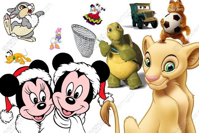 psd素材 卡通动漫 迪斯尼卡通人物 卡通动物 可爱卡通素材 米奇老鼠