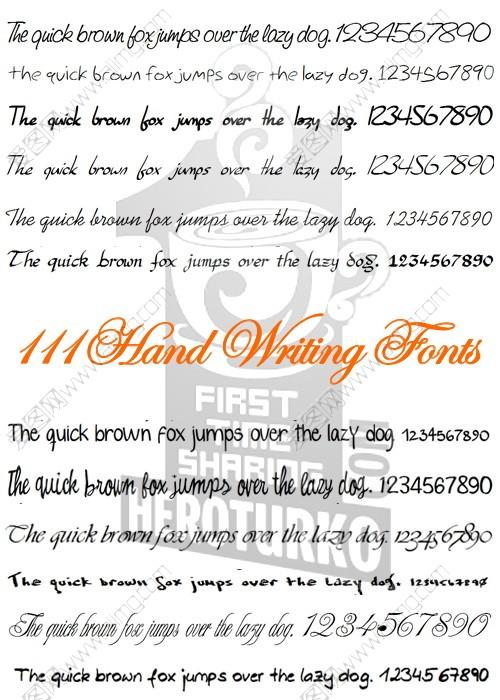 111款英文手写字体下载