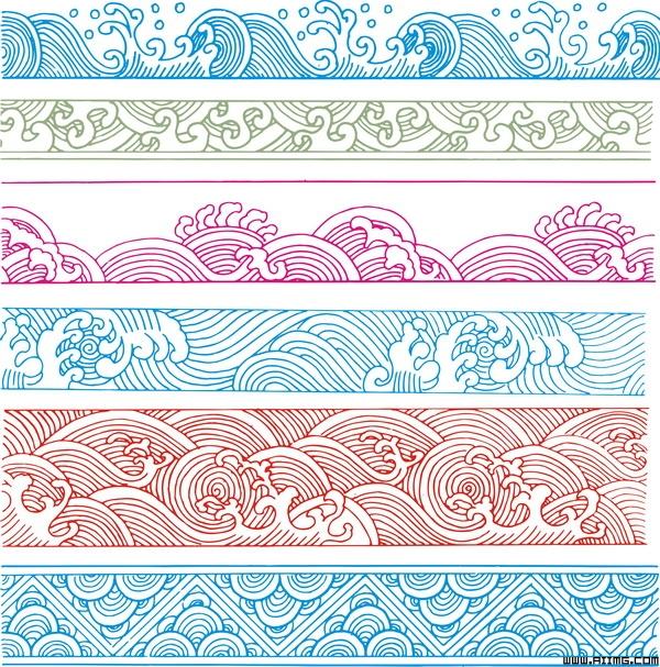 24款古典图案花边矢量素材 精品古典云纹矢量素材集 极品古典边框图案