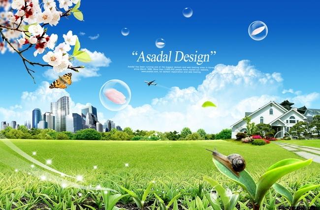 > 素材信息   关键字: 桃花蓝天白云气泡建筑物飞机草地草坪绿叶蜗牛