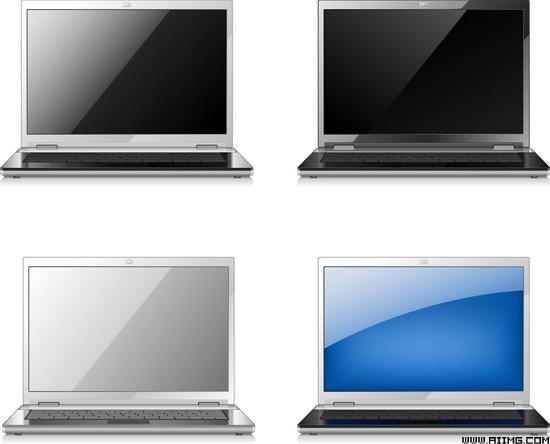 电视机笔记本电脑矢量素材
