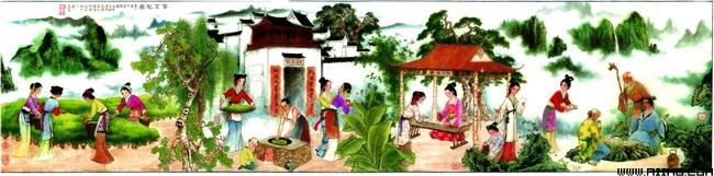 关键字: 工笔古代采茶图工笔古代采茶图人物文化艺术工笔画书法psd