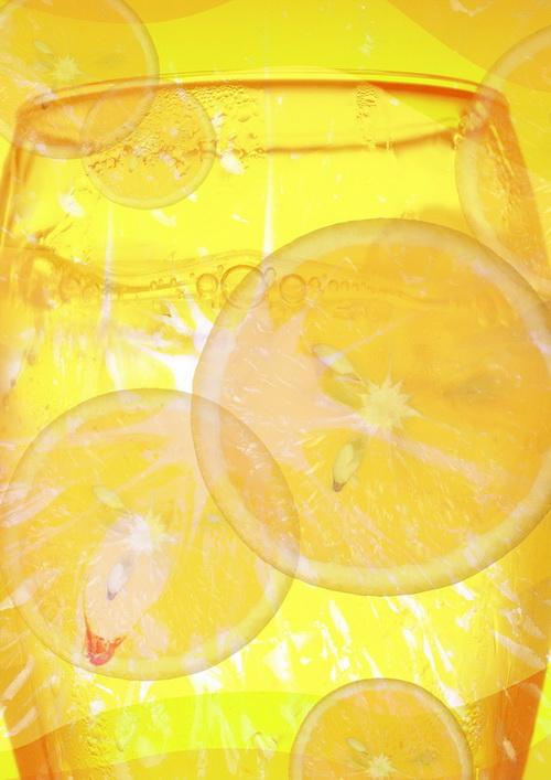 橘子饮料广告素材