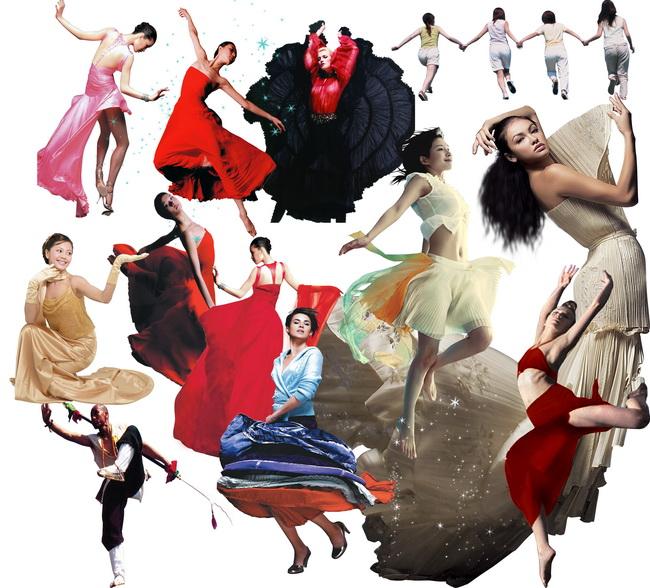 舞蹈美女人物psd分层素材集
