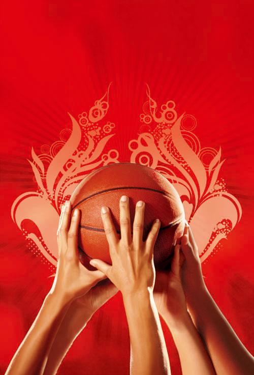 活力篮球psd分层素材