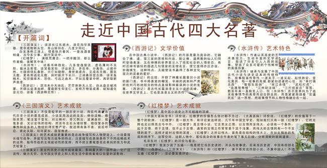 关于西游记的手抄报; 西游记 水浒传; 水浒传手抄报设计图