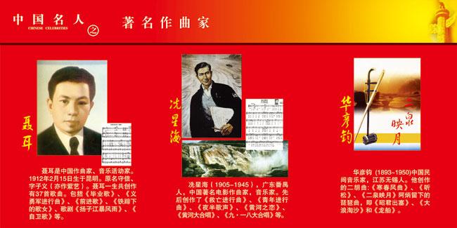校园展板之中国名人著名作曲家