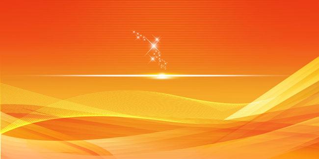 桔黄线条展板背景psd源文件