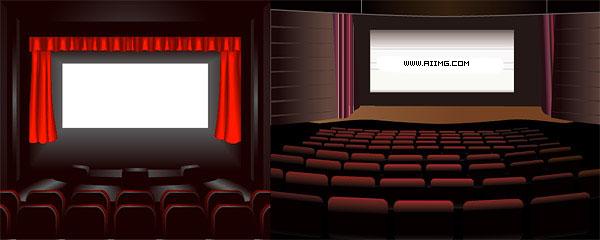 电影院矢量素材 - 爱图网设计图片素材下载