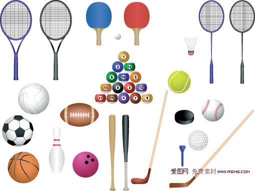 世界运动器材体育器材网球拍球拍滑板羽毛球我的矢量悬浮冰棒图片