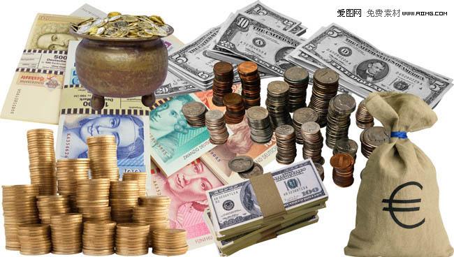 金融货币psd分层素材