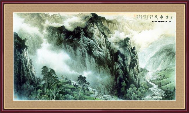 山水风景中堂画87