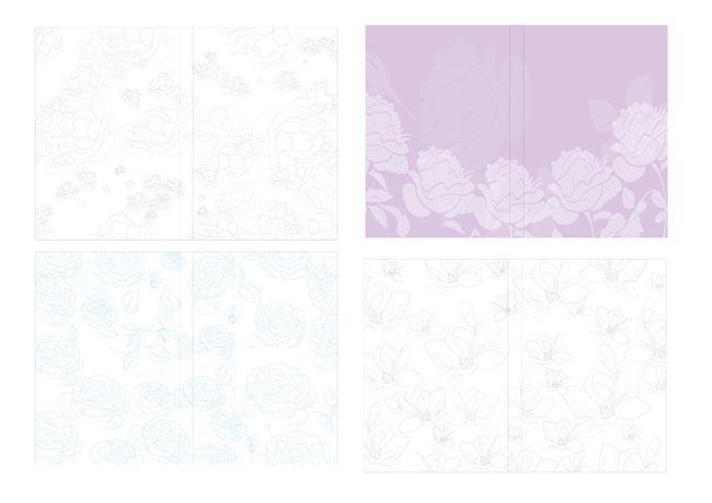 > 素材信息   关键字: 线描花朵封面底纹线描花朵封面底纹提花面料图片