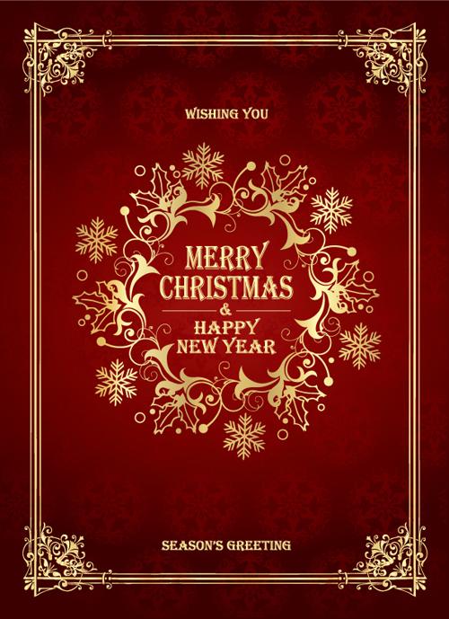 欧式花纹边框欧式花纹华丽花边金色花边圣诞