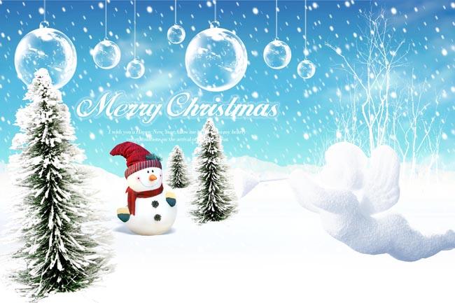 圣诞贺卡圣诞节贺卡模板圣诞节图片圣诞节素材圣诞球松树雪花背景