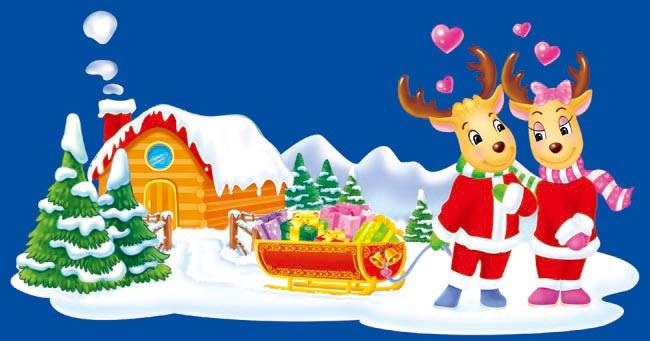 psd素材 节日庆典 > 素材信息   关键字: 圣诞情侣小鹿圣诞节图片圣诞