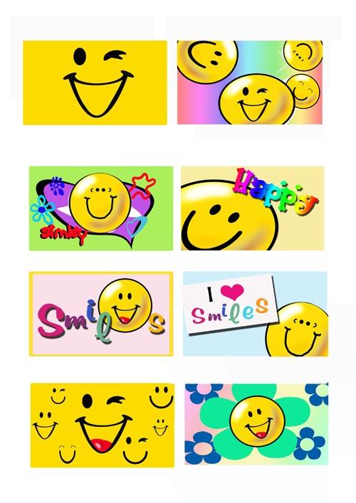 微笑素材可爱表情幽默图片卡通笑脸吉祥